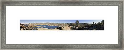 Watson Lake Framed Print by Austin Troya