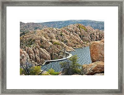 Watson Lake Dam Framed Print