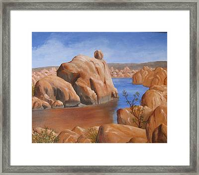 Watson Lake Framed Print by Jan Rooney
