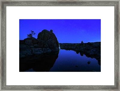 Watson Lake Moonshine Framed Print
