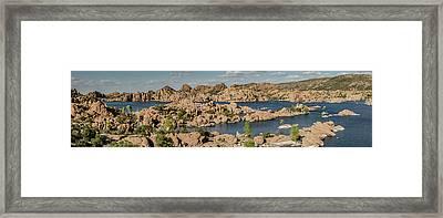 Watson Lake Panorama 2 Framed Print