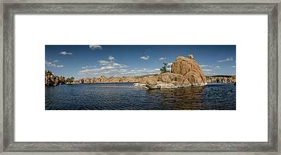 Watson Lake Panorama Framed Print