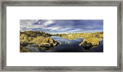 Watson Lake Panoramic 30x12 Framed Print by Tom Clark