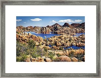 Granite Dells At Watson Lake Framed Print