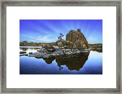 Watson Lake Refection Framed Print by Janet Ballard