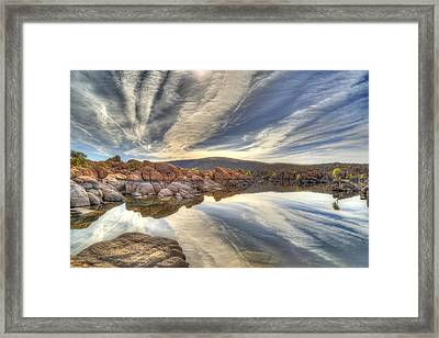 Watson Lake Reflections Framed Print by Donna Kennedy