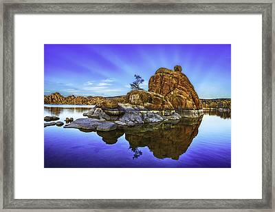 Watson Lake Sunrise Framed Print