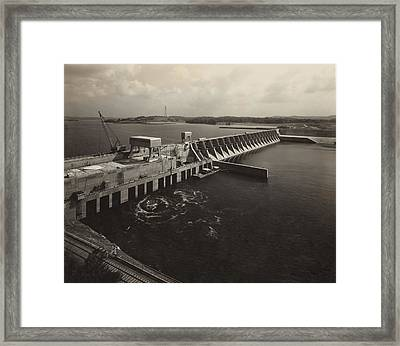 Watts Bar Dam On The Tennessee River Framed Print by Everett