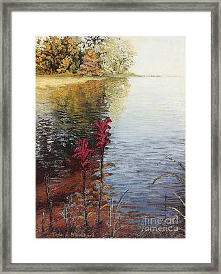 Framed Print featuring the painting Watts Bar Lake Rockwood Tn by Todd Blanchard