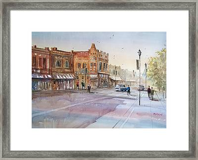 Waupaca - Main Street Framed Print