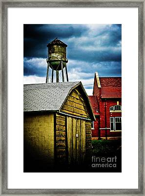 Waurika Old Buildings Framed Print by Toni Hopper
