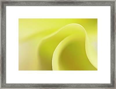 Wave A Little Light Framed Print by Evelina Kremsdorf