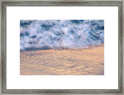 Wave Abstract 3, Hoi An, 2014 Framed Print by Hitendra SINKAR