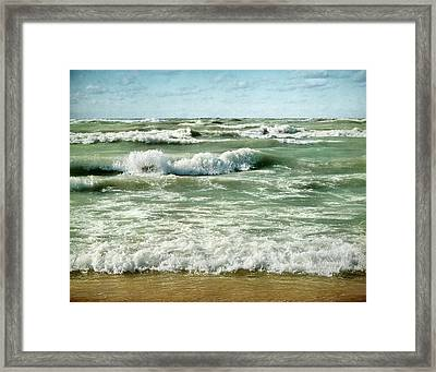 Wave Action Framed Print by Kathi Mirto