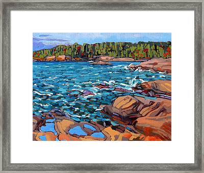 Wave Action Framed Print by Phil Chadwick