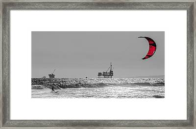 Wave And Wind Energy Are More Fun Framed Print by Scott Campbell