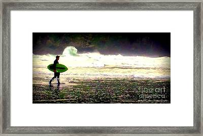 Wave Appeal Framed Print by Michele Hancock