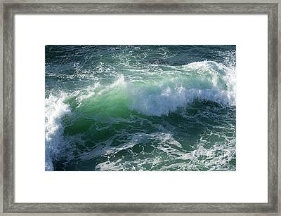 Wave At Montana De Oro Framed Print