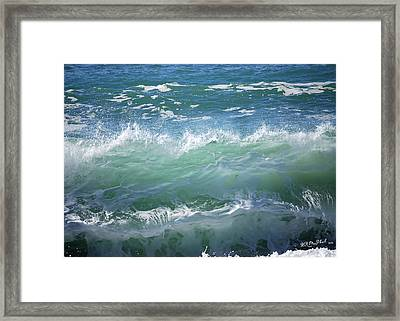Framed Print featuring the photograph Wave by Barbara MacPhail