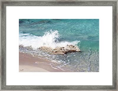 Gentle Wave In Bimini Framed Print