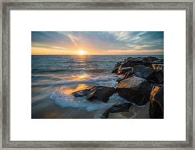 Wave Break Framed Print
