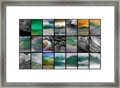 Wave Chart Framed Print by Brad Scott