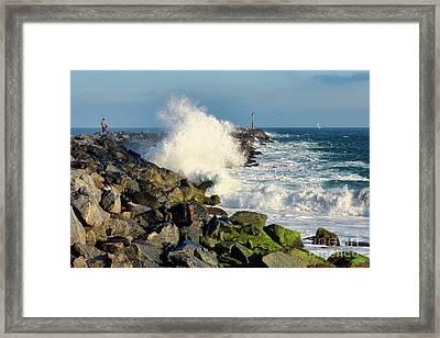 Wave Crash At The Wedge Framed Print
