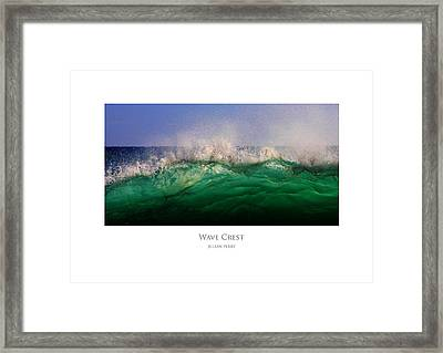 Framed Print featuring the digital art Wave Crest by Julian Perry