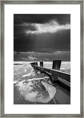 Wave Defenses Framed Print