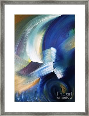 Wave Framed Print by Ellen Young