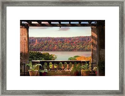 Wave Hill Pergola View Framed Print