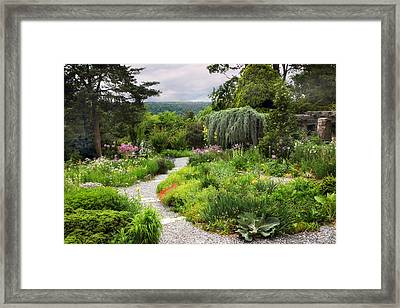 Wave Hill Spring Garden Framed Print by Jessica Jenney