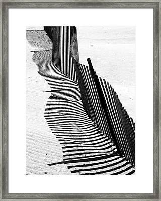 Wave In The  Sand Framed Print by Doug Hockman Photography