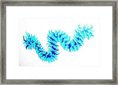 Wave Framed Print by Jacqueline Doulis