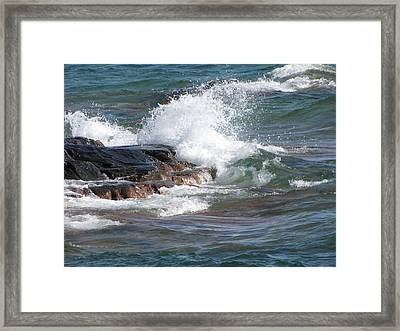 Wave Length Framed Print
