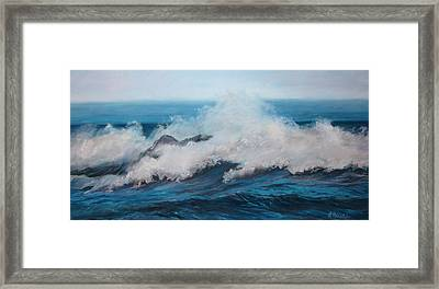 Wave Framed Print by Linda Preece