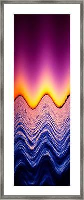 Wave Me A Color Framed Print by Florene Welebny
