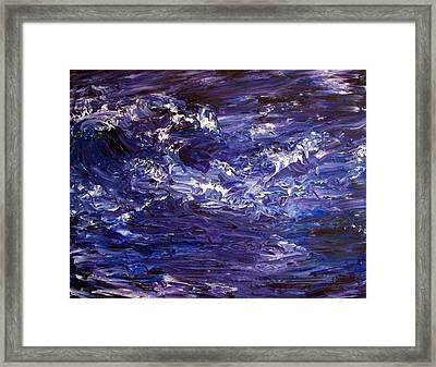 Wave Of Life Framed Print by Robin Monroe