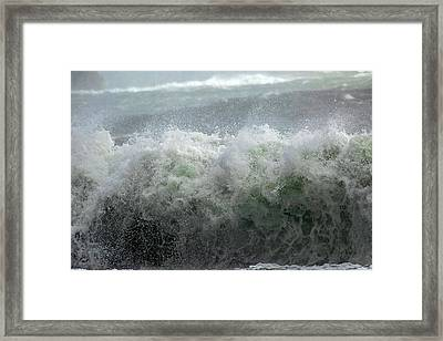 Wave On A Mission Framed Print by Betsy Knapp