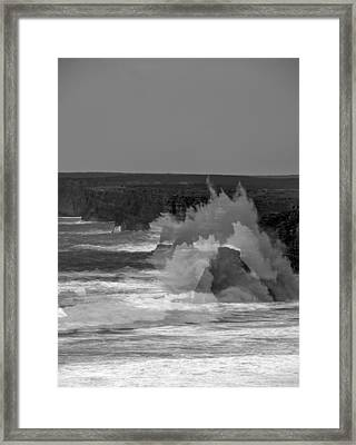 Wave Overlay Of Sagres Wind Storm Framed Print