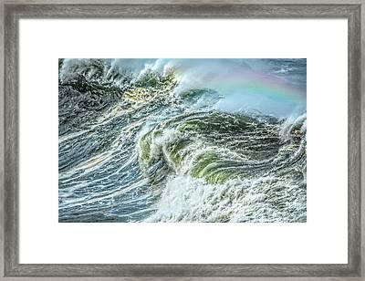 Wave Rainbow Framed Print