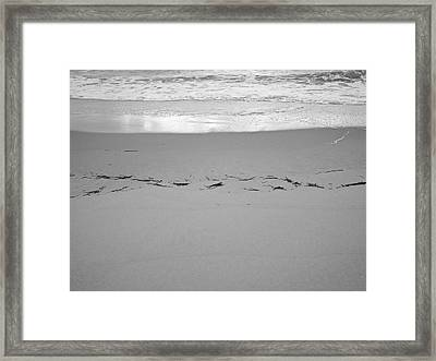 Wave Remarks Framed Print