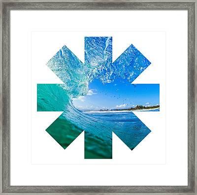Wave Framed Print by Rhcp