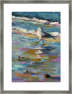 Framed Print featuring the painting Wave Runner by Chris Brandley