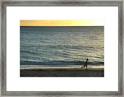 Wave Runner Framed Print by Dan Holm