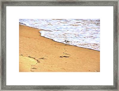 Framed Print featuring the photograph Wave Runner by Jan Amiss Photography