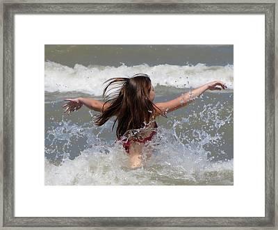 Wave Splash Framed Print by Maciek Froncisz