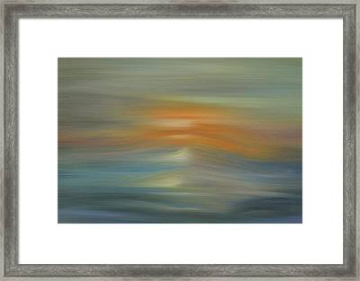Wave Swept Sunset Framed Print by Dan Sproul
