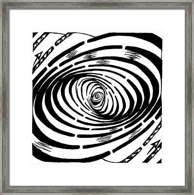 Wave Swirl Maze Framed Print by Yonatan Frimer Maze Artist