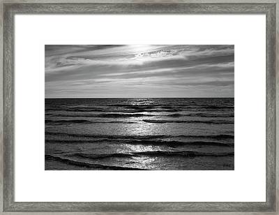 Framed Print featuring the photograph Wave Upon Wave I Bw by David Gordon